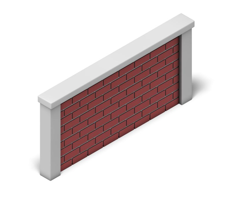 Clipart - Brick Wall Isometric