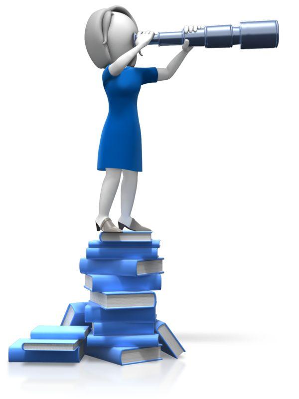 Clipart - Woman Spyglass Books