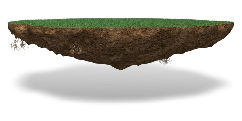 Clipart - Grass Chunk Of Land