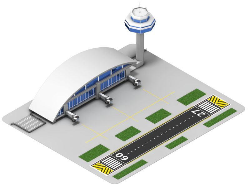 Clipart - Airport Isometric