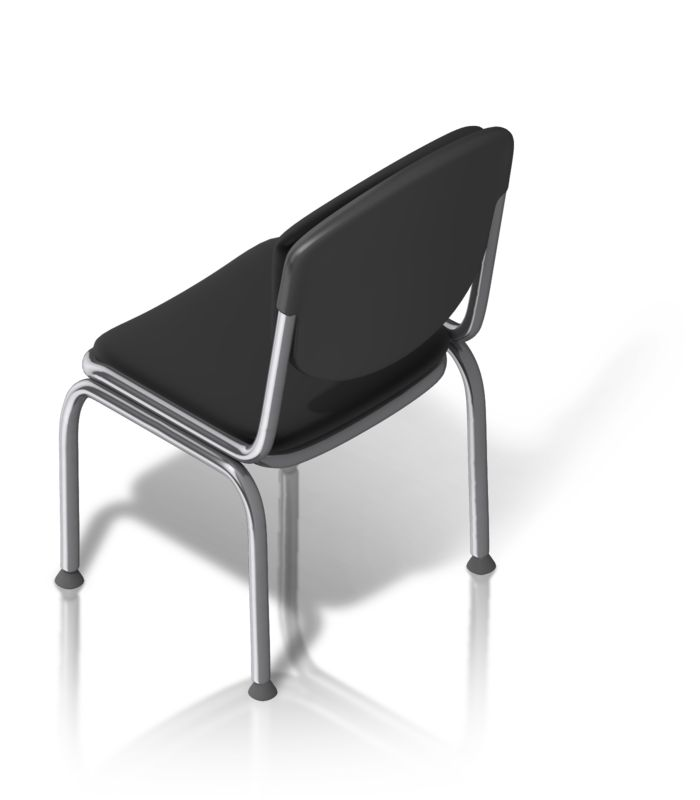 Clipart - Metal Chair Back Isometric