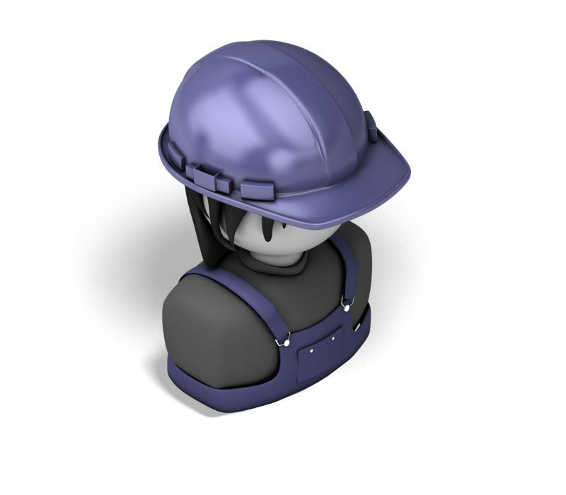Clipart - Woman Construction Isometric