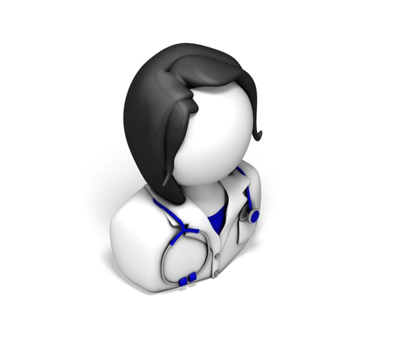 Clipart - Female Nurse or Doctor Icon
