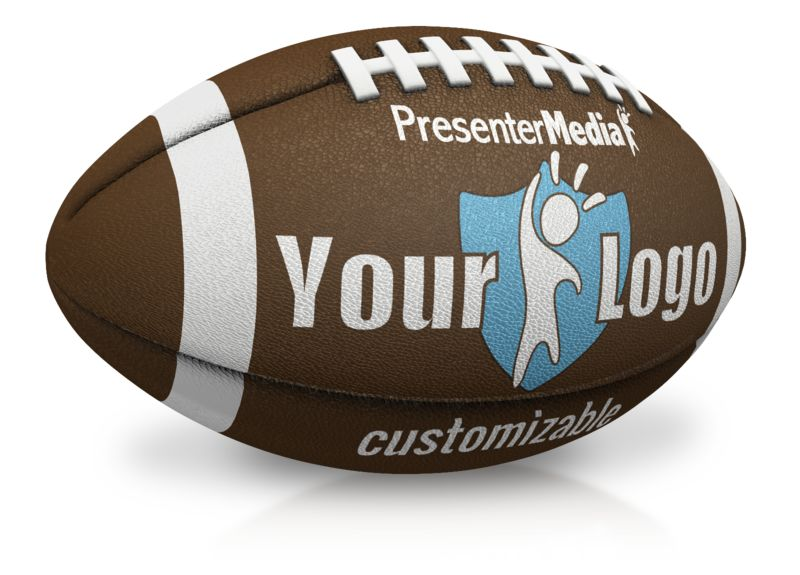 This Presentation Clipart shows a preview of Single Custom Football