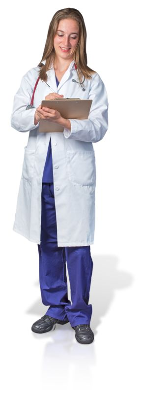 Clipart - Female Doctor or Nurse Clipboard Notes