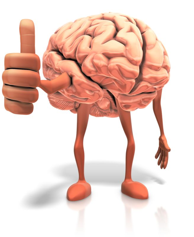 Clipart - Positive Thinking Brain