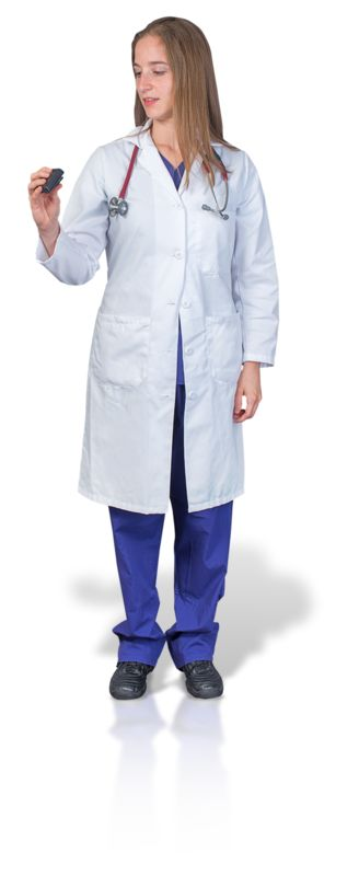 Clipart - Female Doctor or Nurse with Pager