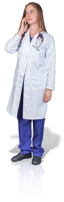 Clipart - Female Doctor or Nurse Talking Phone