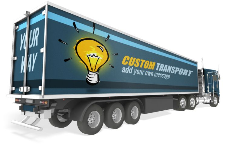 This Presentation Clipart shows a preview of Semi Truck Custom