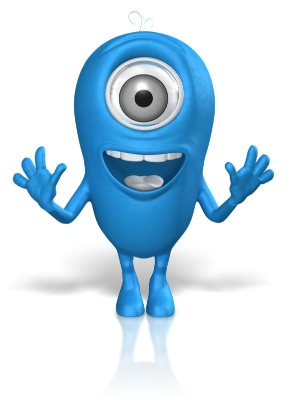 Clipart - Character Excited Looking Straight Ahead