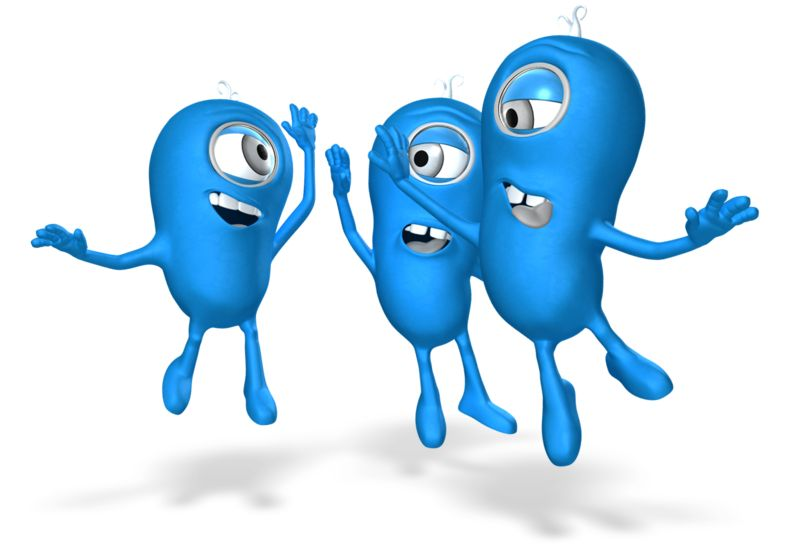 Clipart - Characters Group High Five