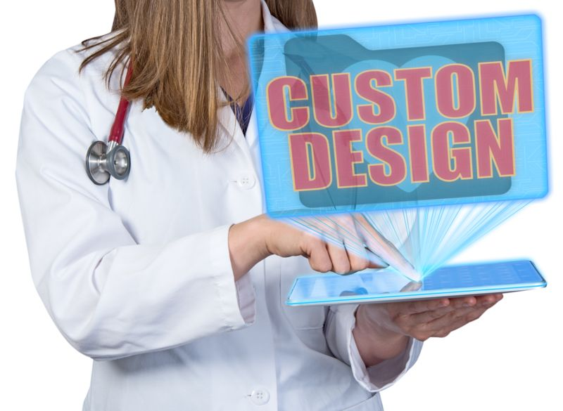 This Presentation Clipart shows a preview of Medical Worker Hologram Display Custom