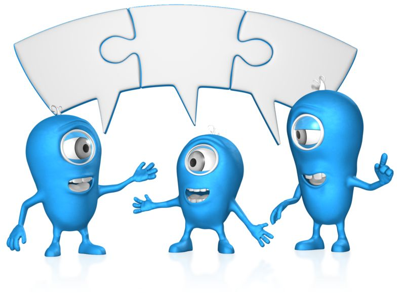 Clipart - Joined Puzzle bubble Group Coversation
