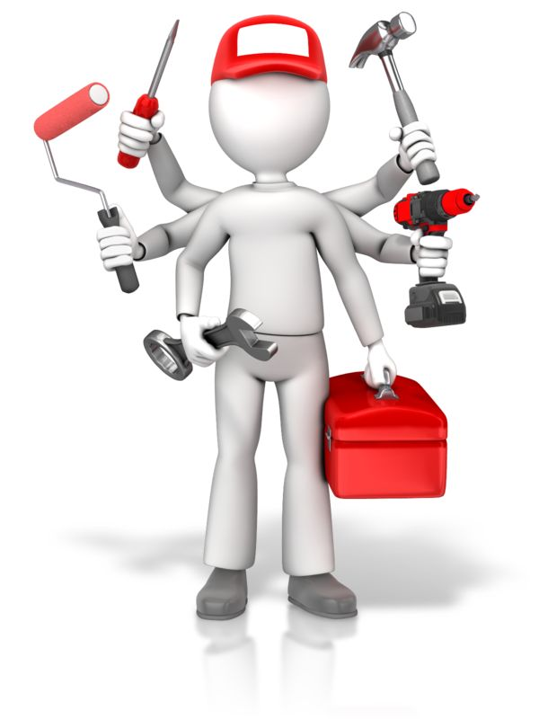 Clipart - Handyman Jack Of All Trades