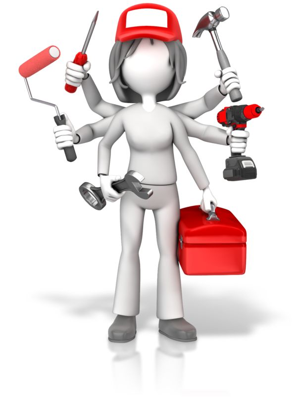 Clipart - Handywoman Jack Of All Trades