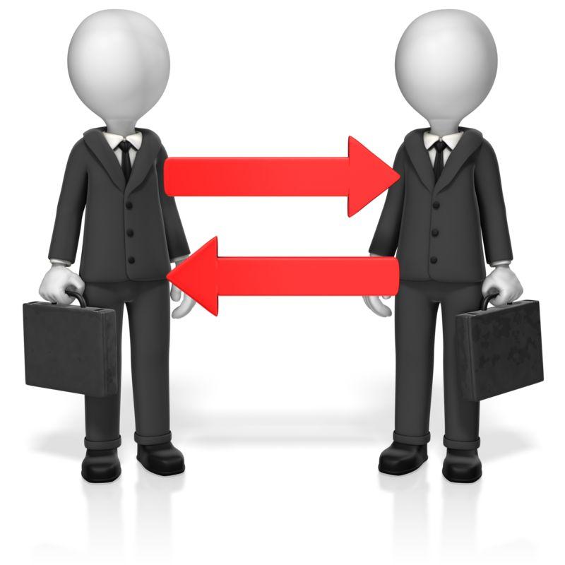 Clipart - Businessmen Arrows
