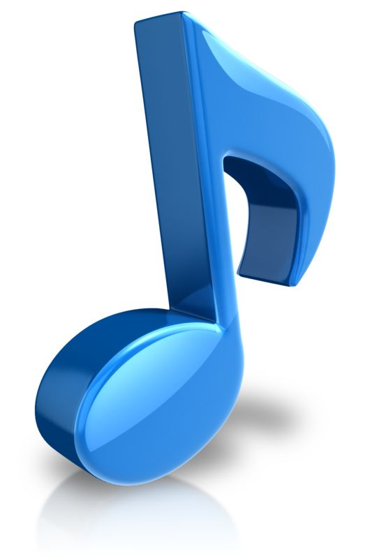Clipart - Musical Note Large Color