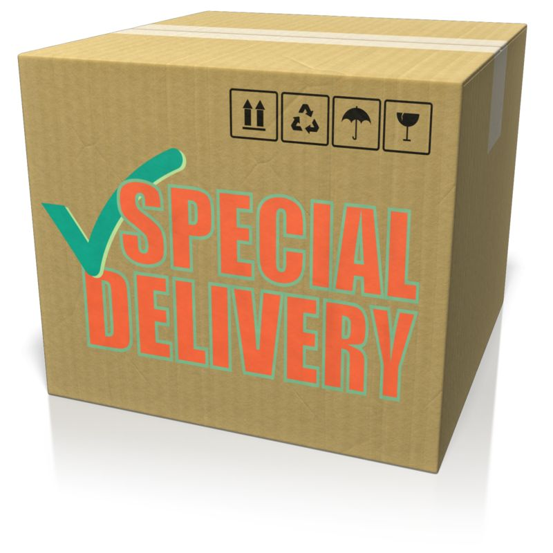 This Presentation Clipart shows a preview of Cardboard Box Custom