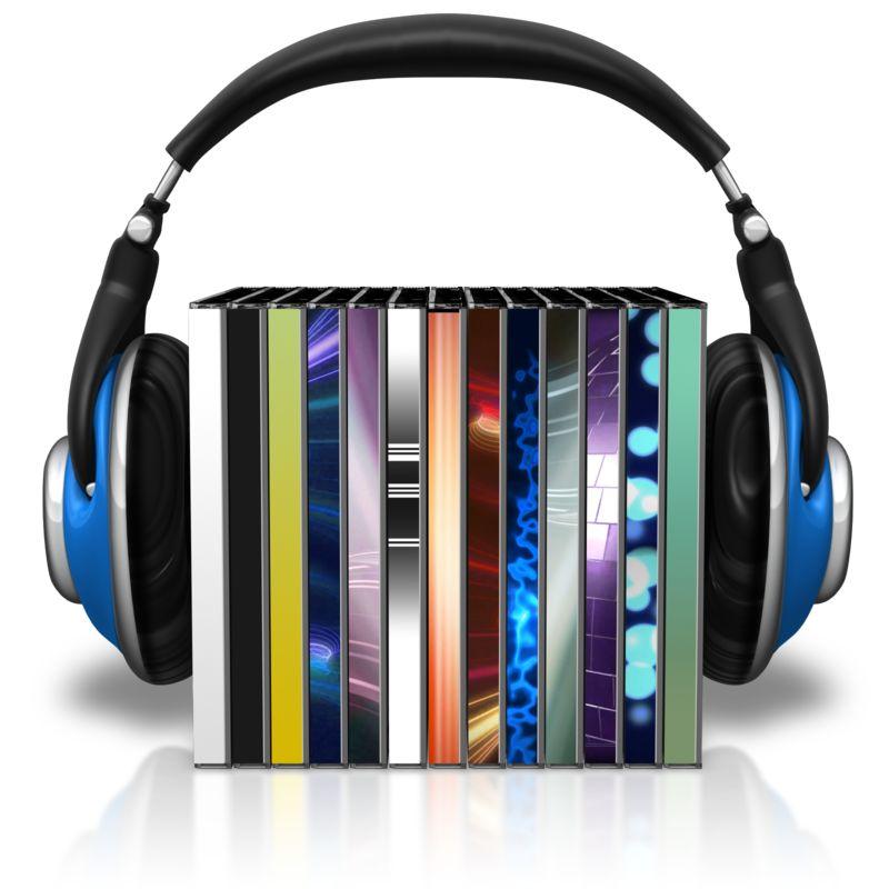 Clipart - Headphones Cd Cases
