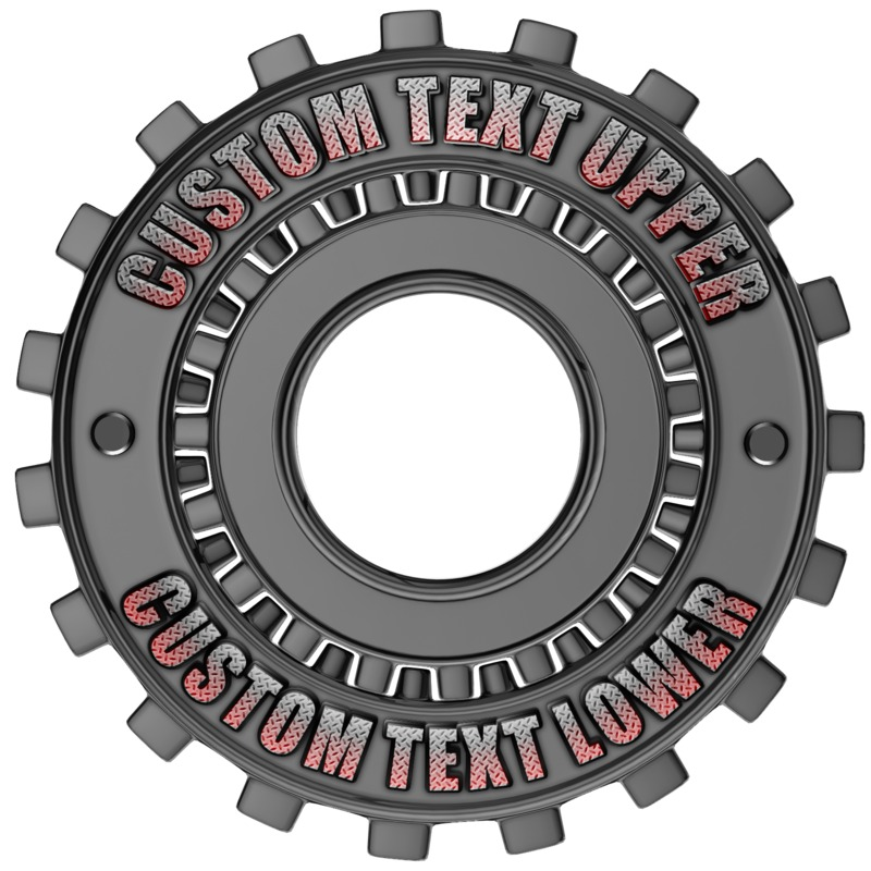 This Presentation Clipart shows a preview of Custom Gear Ring