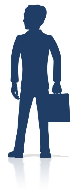 Clipart - Business Man Stand Silhouette