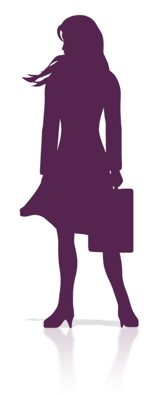 Clipart - Business Woman Stand Silhouette