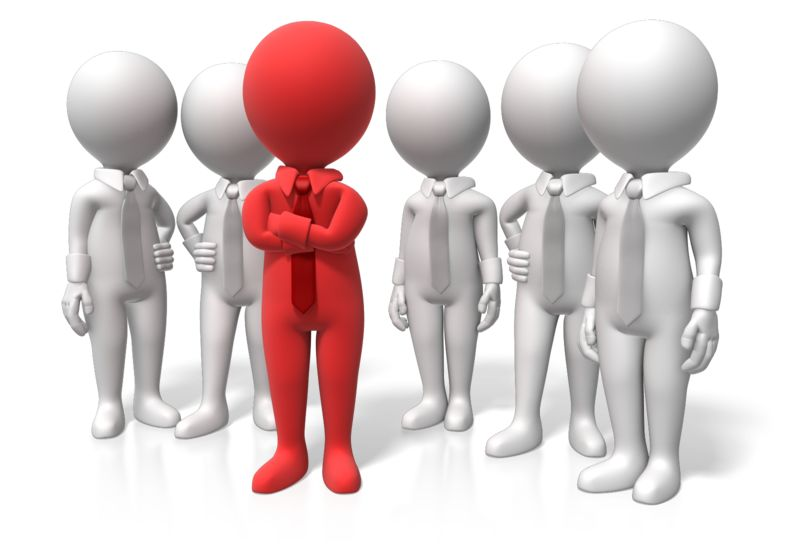 Clipart - Leader Stand Out