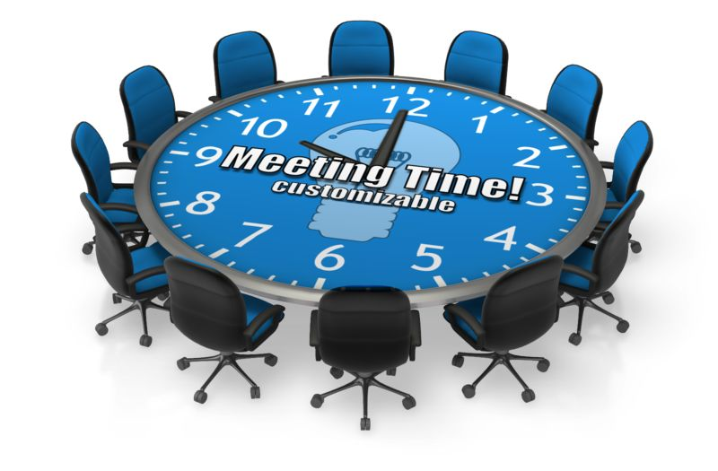 This Presentation Clipart shows a preview of Round Meeting Table Custom