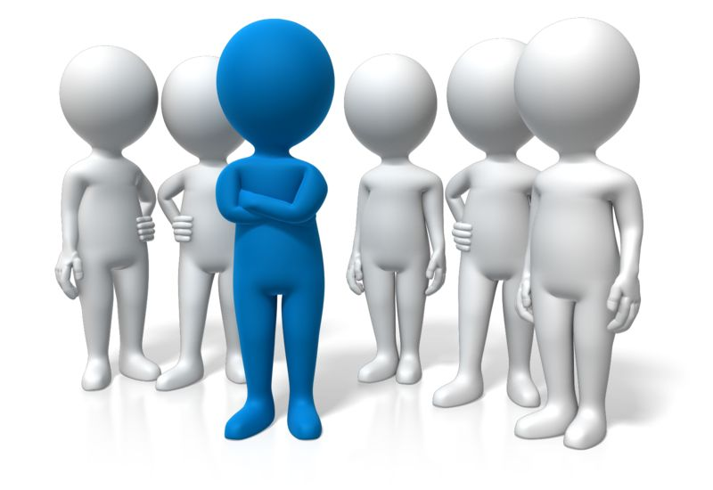 Clipart - Leader Standing Out