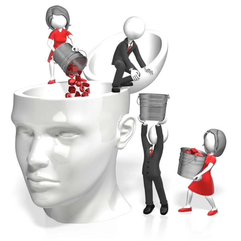 Clipart - Pouring Into Head