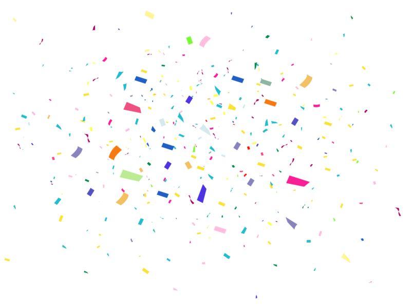 Clipart - Confetti Background Celebrate