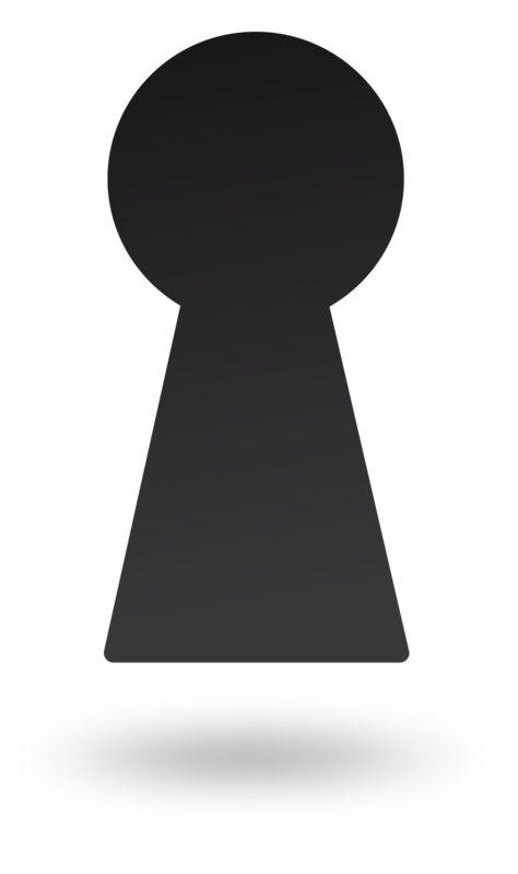 Clipart - Dark Key Hole