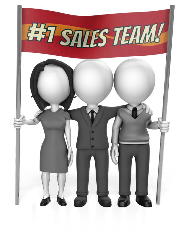 This Presentation Clipart shows a preview of Business People Sign Custom
