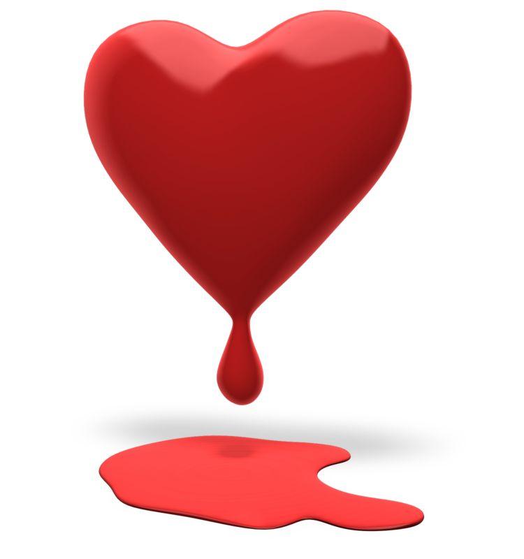 Clipart - Heart Bleeding