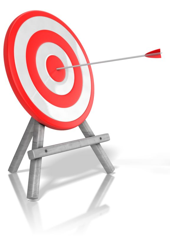 Clipart - Arrow Target Bullseye