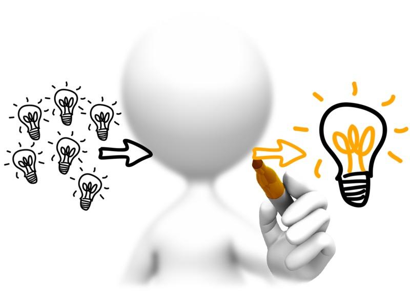Clipart - Lots Of Ideas One Winner