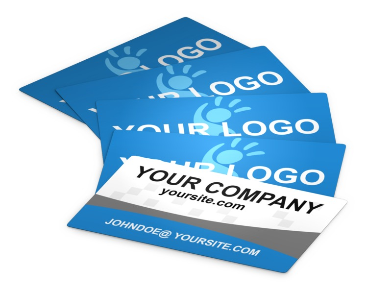 This Presentation Clipart shows a preview of Business Cards Laid Out
