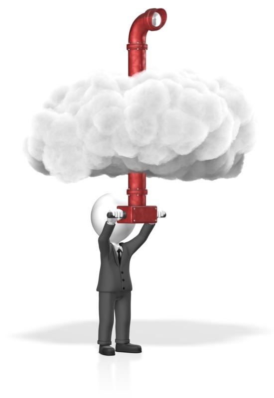 Clipart - Businessman Cloud Periscope