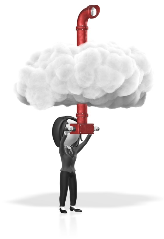 Clipart - Business Woman Cloud Periscope