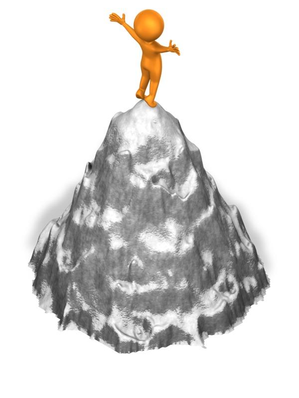 Clipart - Figure On Mountaintop