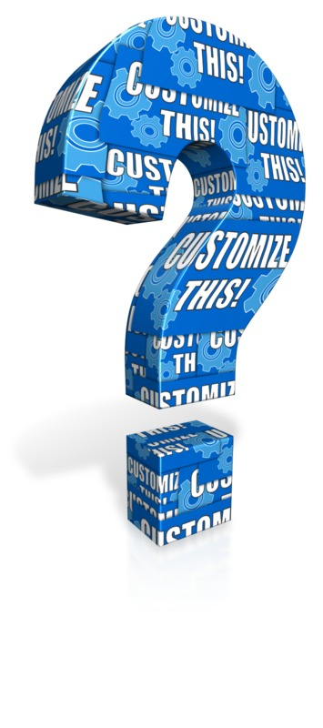 This Presentation Clipart shows a preview of Question Mark Custom