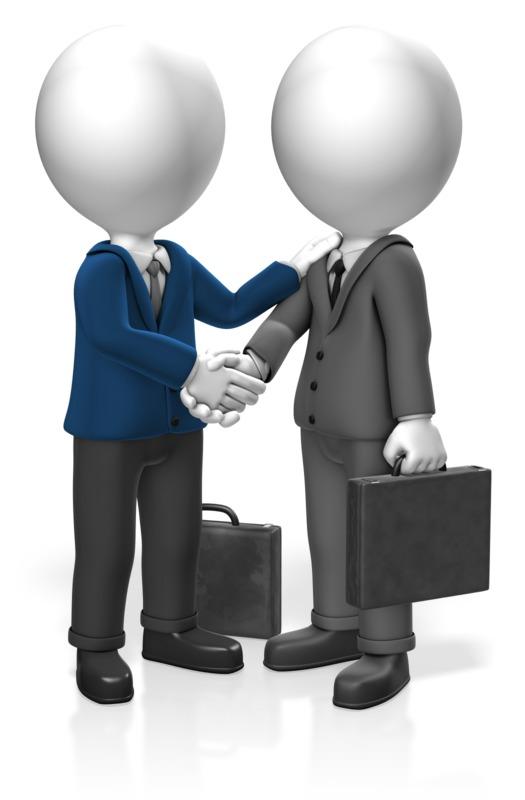 Clipart - Businessmen Greet