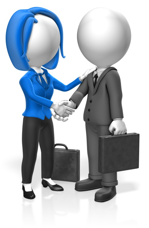 Clipart - Business People Greet