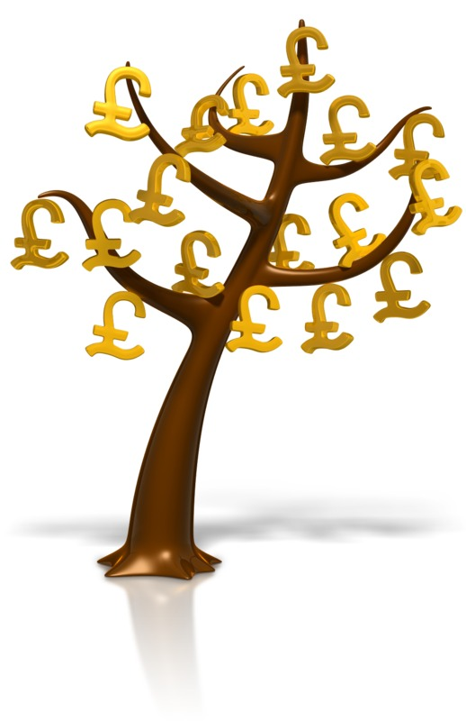 Clipart - Pound Symbol Money Tree