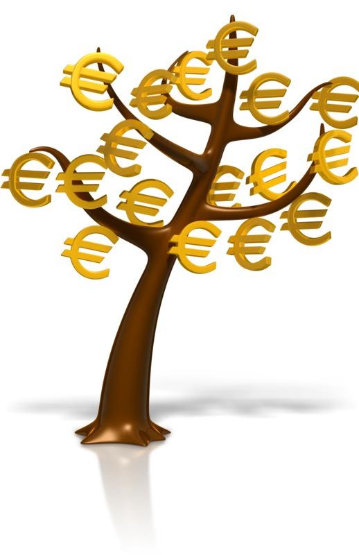 Clipart - Euro Symbol Money Tree