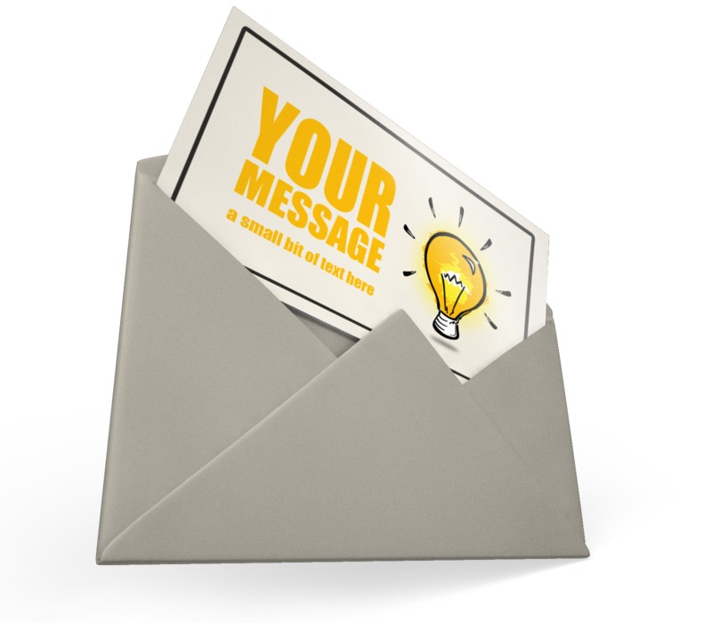 This Presentation Clipart shows a preview of Card Envelope Custom