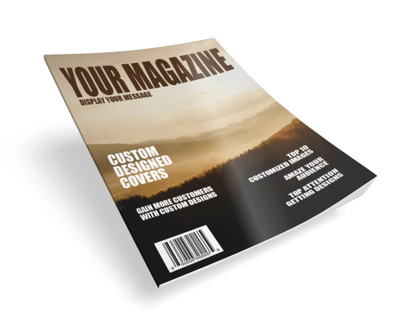 A single glossy magazine mockup. You can upload your own cover photo or just change the text using our on-line tools to create your own magazine design.