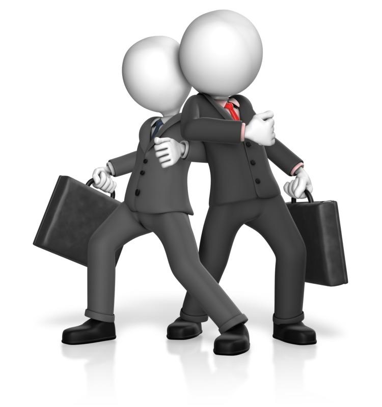 Clipart - Dominance Businessmen Stance