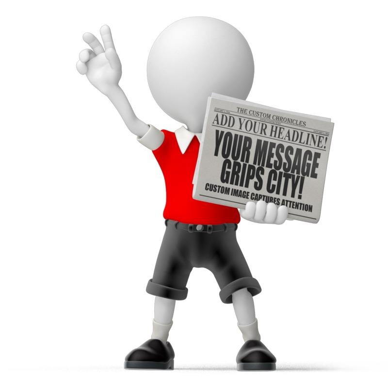 This Presentation Clipart shows a preview of Paperboy Newspaper