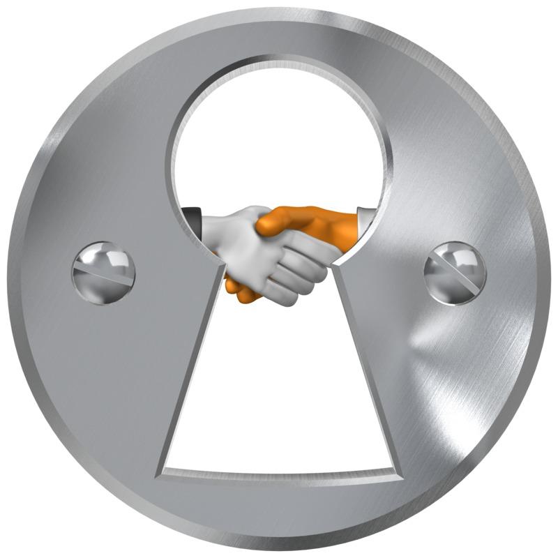 Clipart - Keyhole Handshake